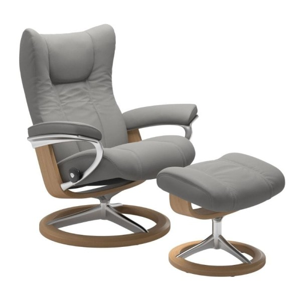 Stressless Sessel Wing in Leder Paloma Signature Untergestell