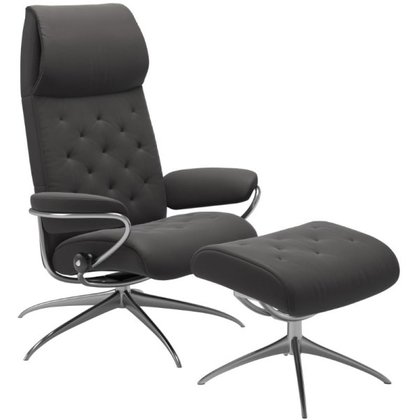 Stressless Sessel Metro High Back M mit Hocker
