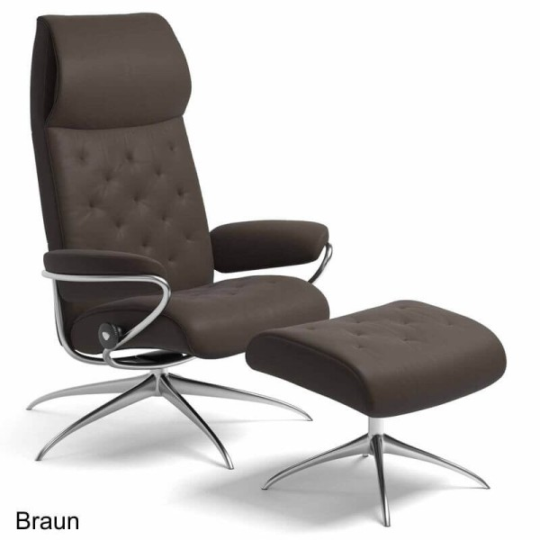 Stressless Sessel Metro High Back mit Hocker
