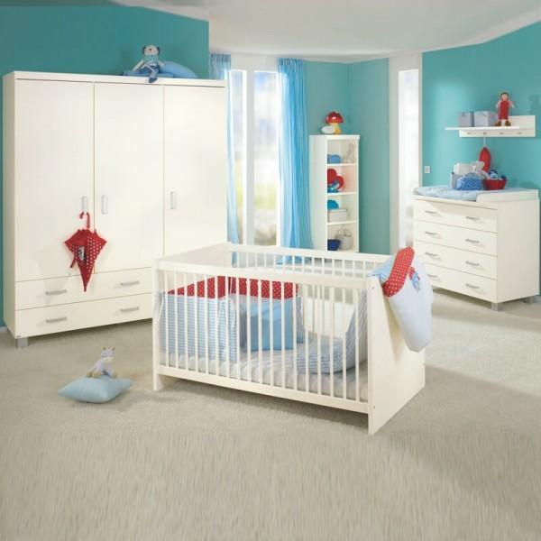 PAIDI Babyzimmer Biancomo - Kinderbett, Kommode, Schrank 3-trg