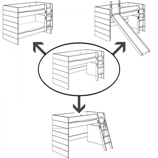 PAIDI Umbau-Set für Spielbett Fiona 120
