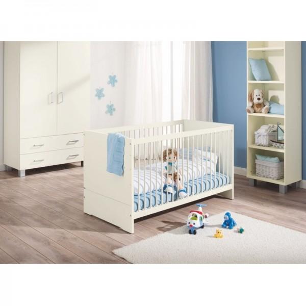 PAIDI Babyzimmer Biancomo - Kinderbett, Standregal, Schrank 2-trg