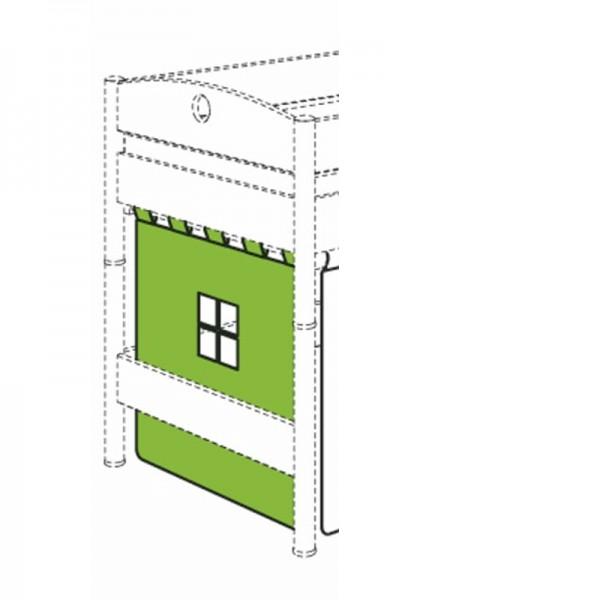 PAIDI Vorhang mit Aussparungen für Spielbett quer