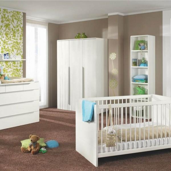 PAIDI Babyzimmer Fabiana - Kinderbett, Kommode, Schrank 3-trg
