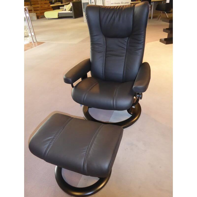 Stressless Sessel View in Leder Batick | Möbel Karmann