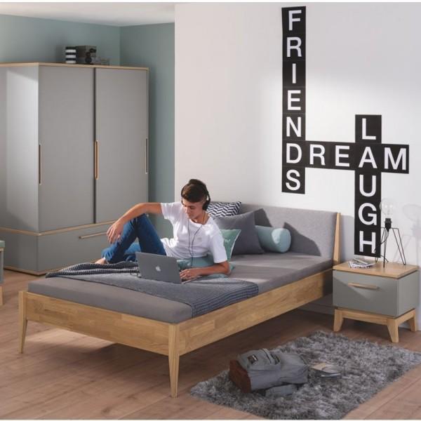 PAIDI Jugendzimmer Sten - Traumliege, Nachtkommode, Kleiderschrank