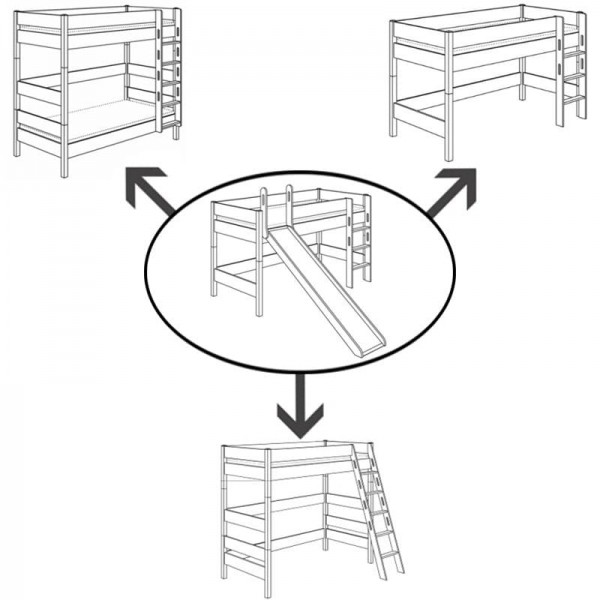 PAIDI Umbau-Set für Spielbett Biancomo mit Rutsche