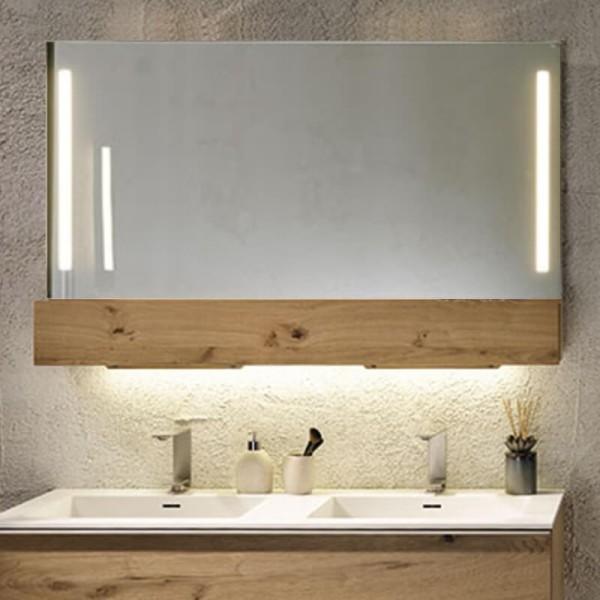 Voglauer Badspiegel V-Alpin mit Fach und Frontbeleuchtung