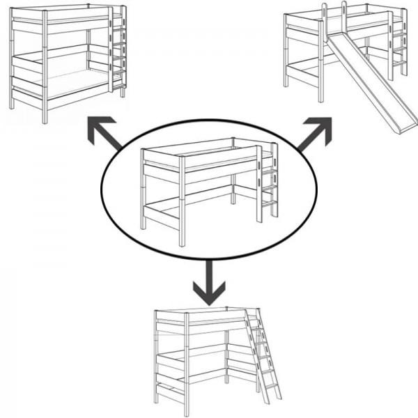 PAIDI Umbau-Set für Spielbett Biancomo 125