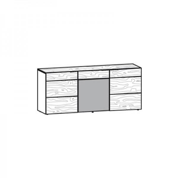 Voglauer Sideboard 192 V-Alpin mittlere Tür mit Akzent