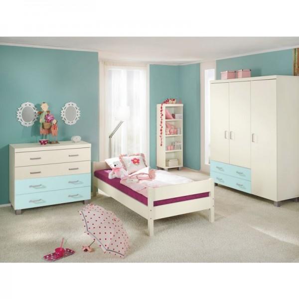PAIDI Kinderzimmer Biancomo - Liege, Kommode, Kleiderschrank