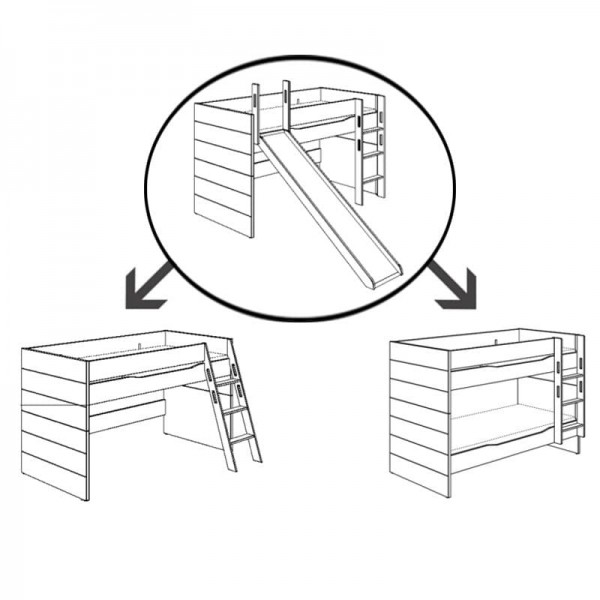 PAIDI Umbau-Set für Spielbett Fiona mit Rutsche