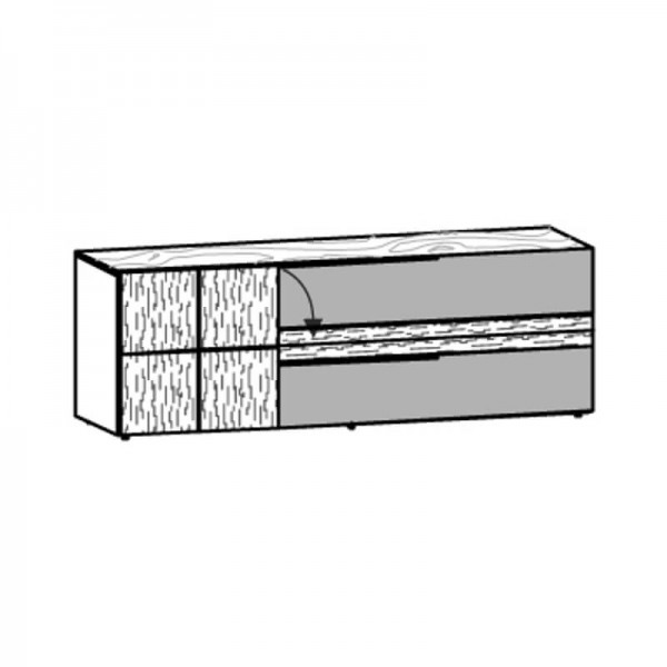 Voglauer Lowboard 192/66 V-Alpin mit Relief