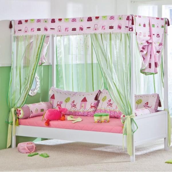 PAIDI Vorhang-Set Motiv für Baldachin hoch