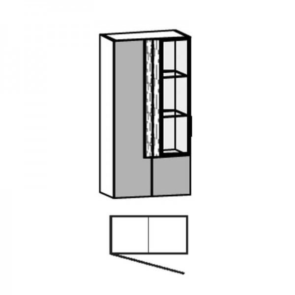 Voglauer Hängeelement 64/128 V-Alpin mit Glas-Relief