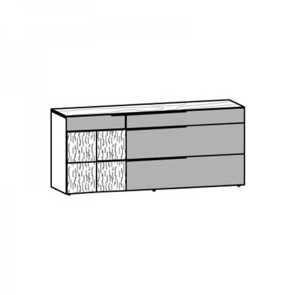 Voglauer Sideboard 192 V-Alpin mit Relieftür