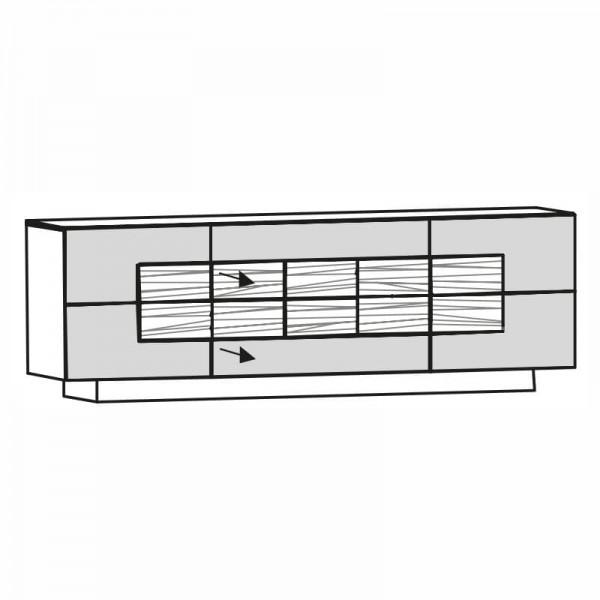 Voglauer Sideboard V-Montana 224 cm, NS22U