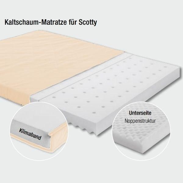 PAIDI Kaltschaum-Matratze für Scotty