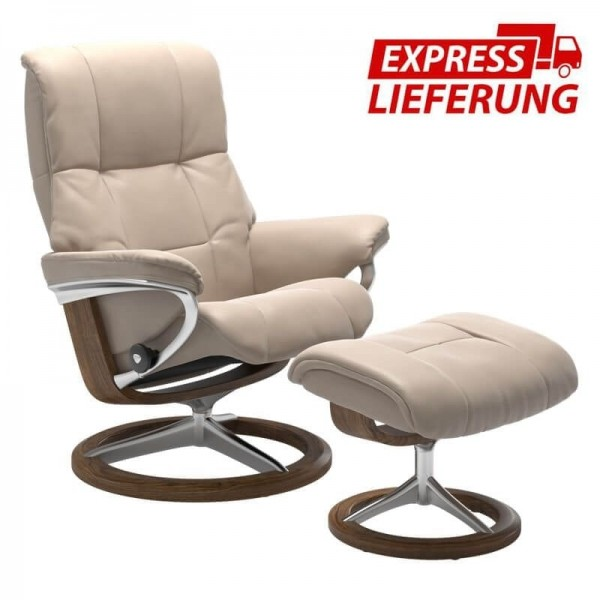 Stressless Sessel Mayfair M Signature Untergestell Leder mit Hocker