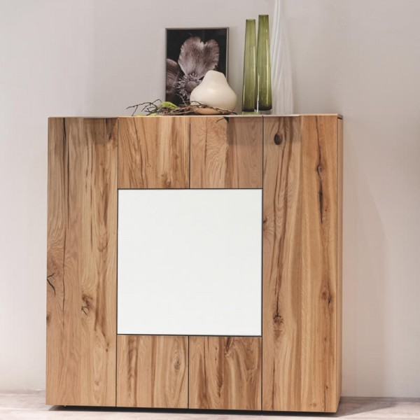 Voglauer Highboard 128 V-Alpin mit Glas-Relief