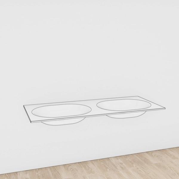 Voglauer Doppelwaschtisch V-Alpin Glas