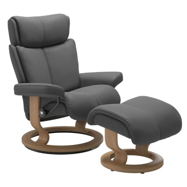 Stressless Sessel Magic in Leder Batick Classic Untergestell