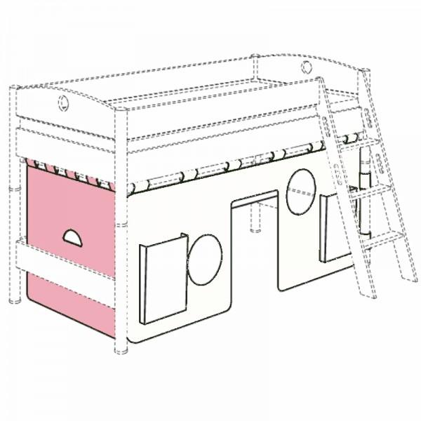 PAIDI Einzelvorhang Uni für Spielbett-Querseite